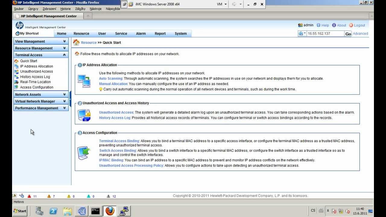 012 iMC - Terminal Access (IP a MAC management)