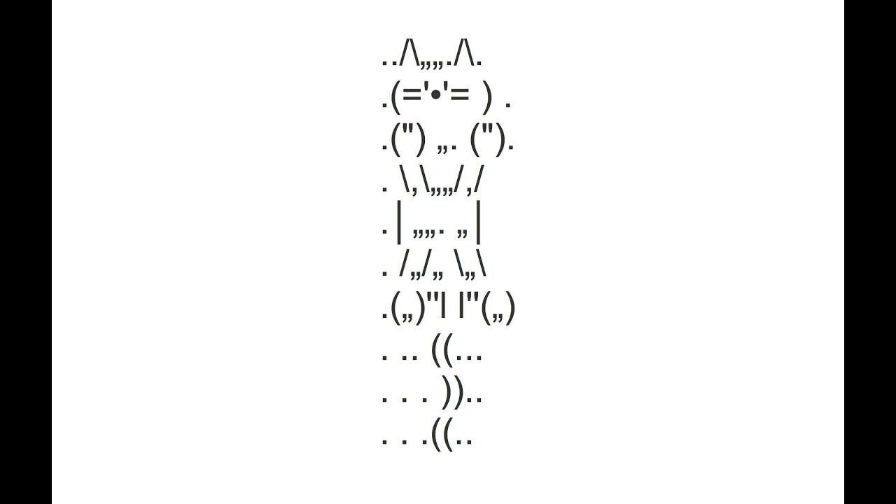 Jumping Cat Copy And Paste Text Art Youtube