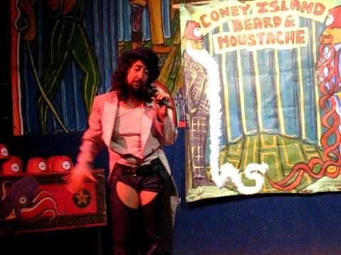 Jennifer Miller at the Coney Island Beard & Mustache Competition