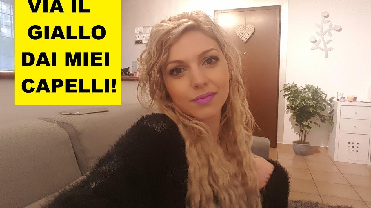 COME ELIMINARE IL GIALLO DAI CAPELLI BIONDI - YouTube d6c720916f56