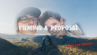 fpv drones filming a wedding proposal?