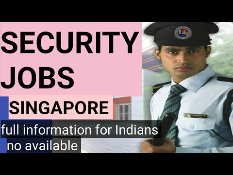 security jobs in Singapore for Indians