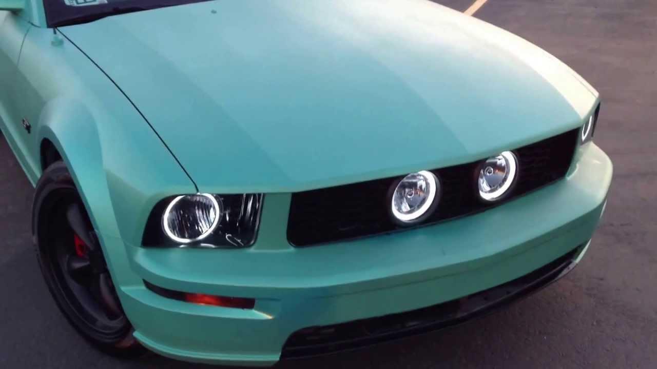 Plasti Dip Custom Pearl Teal 05 Mustang Gt Youtube