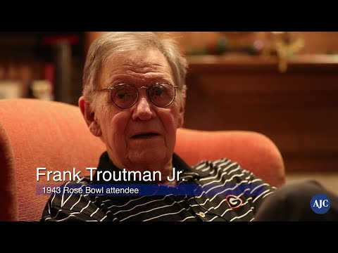 Frank Troutman Jr. remembers his time at the 1943 Rose Bowl game