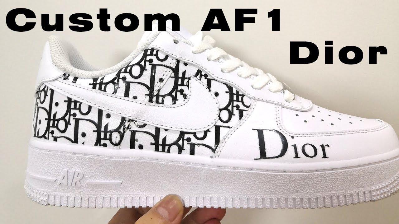Custom Air Force 1s Dior-Black Dior Monogram Tutorial