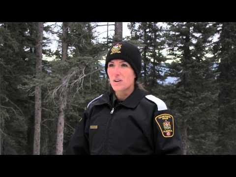 Alberta Fish and Wildlife Officer Vanessa Rukas