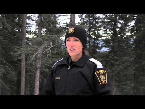 Alberta Fish And Wildlife Officer Vanessa Rukas