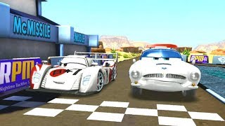 Shu Todoroki Vs Finn McMissile & Lightning Mcqueen Disney Cars Race Game Play