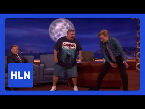 No joke! Comic tells Conan his weight loss secret - HLN  - Z0LGgjZhOYY -