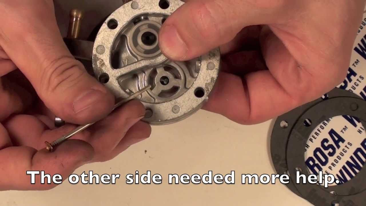 Mikuni carb series #1 Fuel pump rebuild