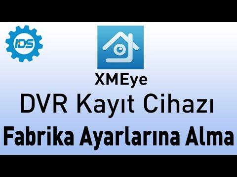 DVR Kayıt Cihazını Fabrika Ayarlarına Alma - XMEYE