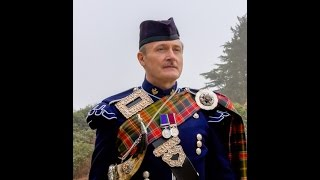Roger H (Highland Piper) with young Scottish dancers
