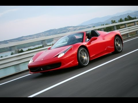 Topless Italian Beauty: 2012 Ferrari 458 Spider