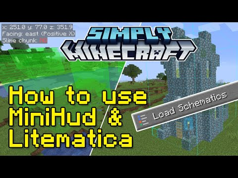 How to use MiniHud and Litematica (Fabric) Mods Tutorial | Simply Minecraft (Java Edition 1.16)