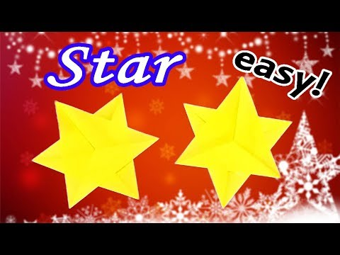 How to Make a Paper Star Easy but Cool    Origami Christmas Decorations DIY for Kids