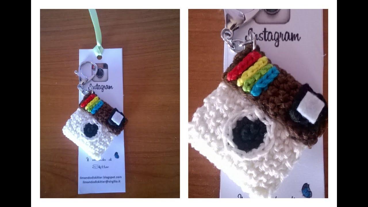 Cámara instagram amigurumi tejida a crochet - YouTube | 720x1280