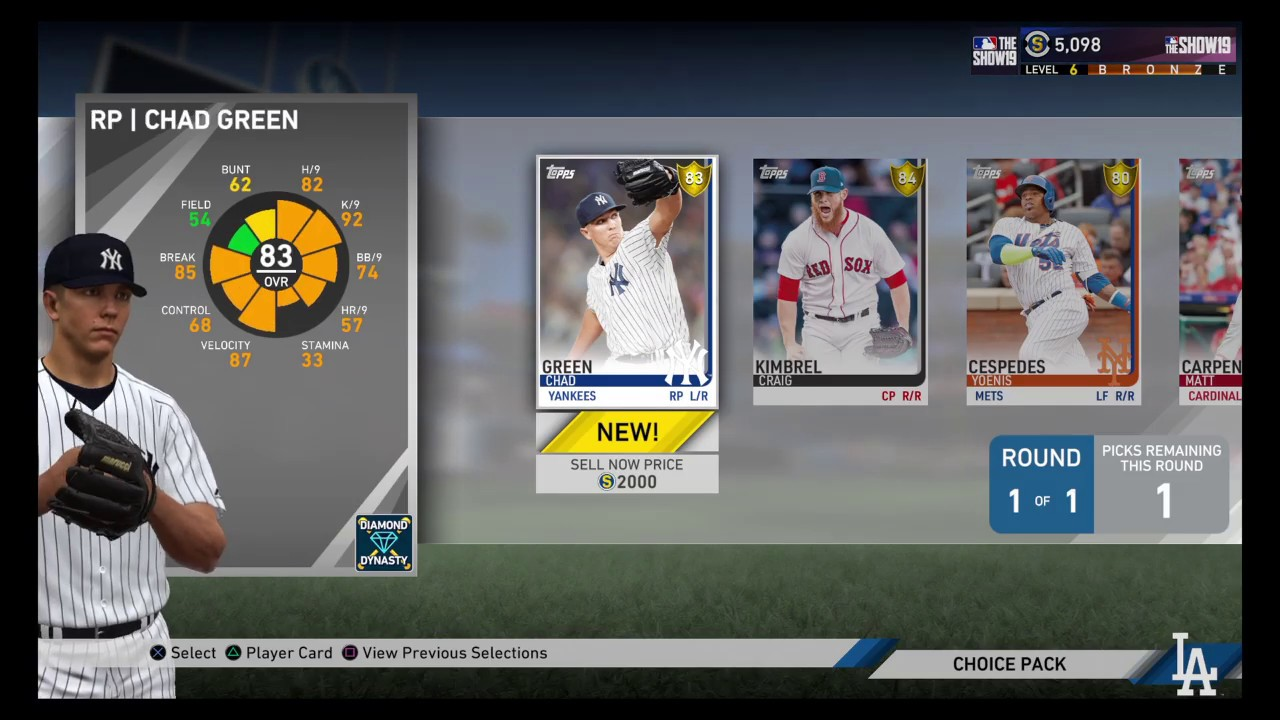 Mlb The Show 19 First Opening 10 Pack Baseball Cards Pre Order Ps4 Playstation 4 3262019