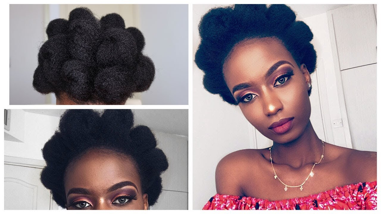 Natural Hair Style: Afro Puff Out On 4c Natural Hair