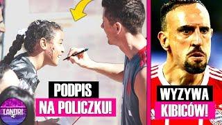 Lewandowski PODPISAŁ się na POLICZKU! Ribery OBRAŻA kibiców!
