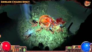 Path of Exile - Sawblade Cyclone Effect