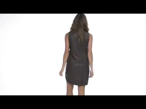 Rebecca Taylor Quilted Leather Runway Dress SKU: #8010601