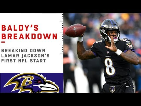 Breaking Down Lamar Jackson's First NFL Start | NFL Film Review