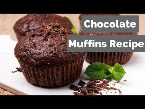 Chocolate Muffins | Low Fat Chocolate Banana Muffins Recipe Video - (1SP) for WW