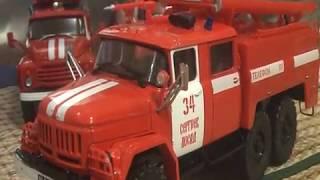 Пожарный ЗИЛ-131 (АЦ-40) от Modimio доработка и сравнение с пожарниками от DeAgostini 1:43