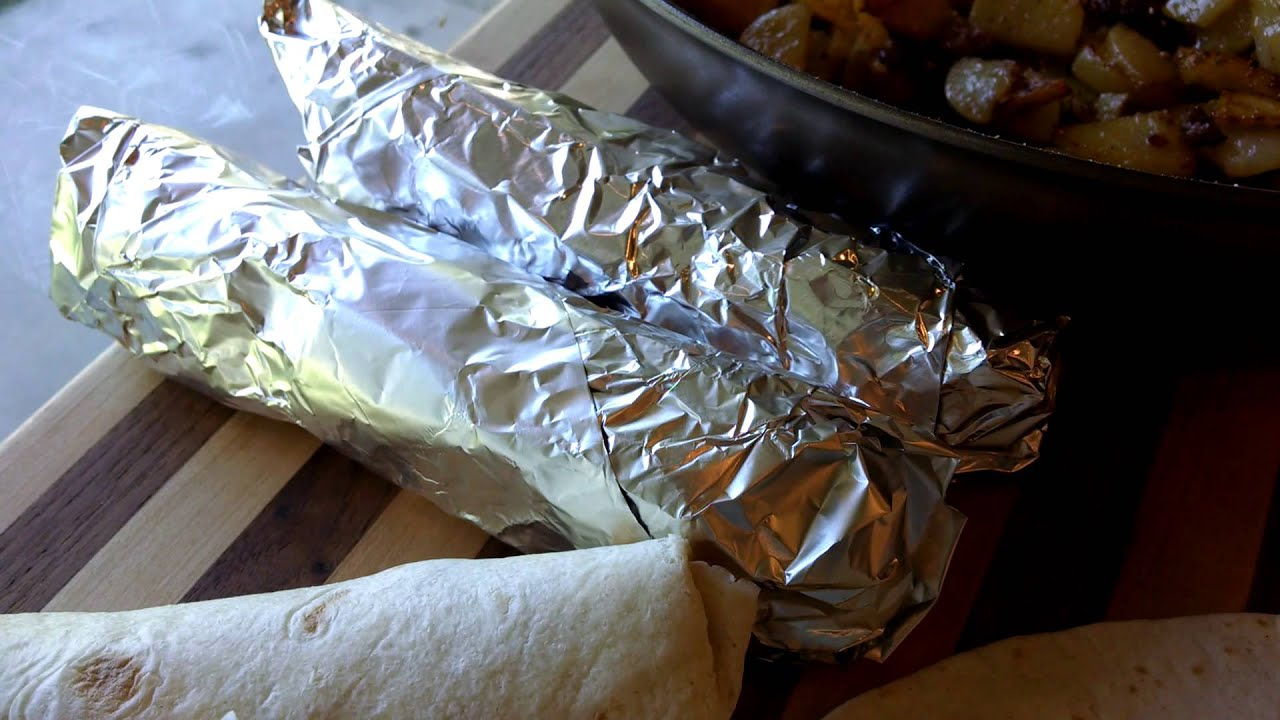 Camping Recipe Make Ahead Breakfast Burrito