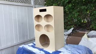 Making a outdoor boom box - Caixa de som Residencial