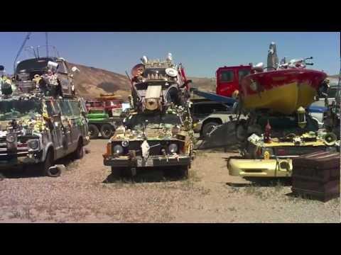 Strange Abandoned Cars in Nevada Desert Near Area 51 - Burning Man Art Cars