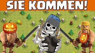 RIESENSKELETT & KÜRBISBARBAR kommen! || Clash of Clans || Let's Play CoC