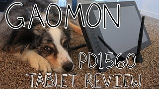 GAOMON PD1560 Graphic Drawing Tablet Review (feat. Dog)