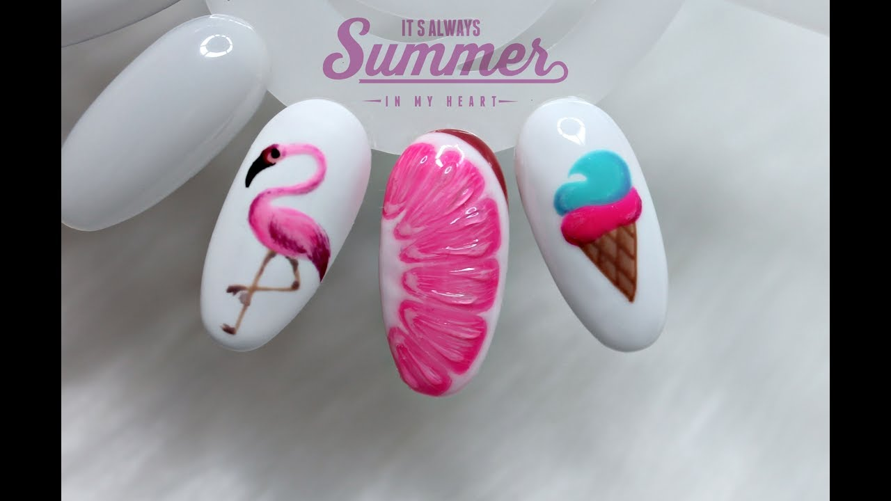 Easy Summer Nail Art Designs Latwe Letnie Wzory Na