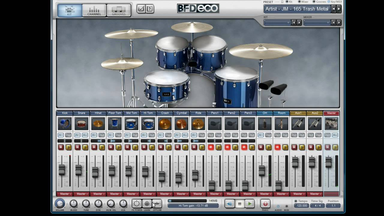FXpansion BFD Eco Acoustic Drum Instrument Review