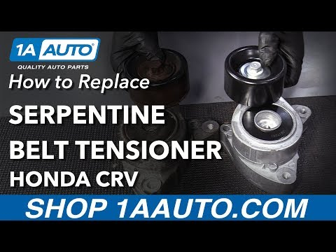 How to Replace Serpentine Belt Tensioner 02-14 Honda CRV