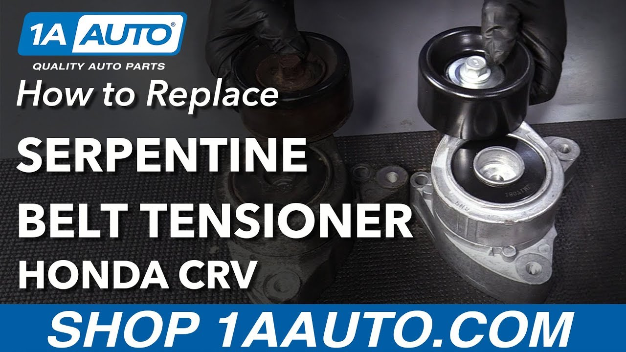 how to replace serpentine belt tensioner 02 14 honda crv youtube honda cr v serpentine belt diagram on seat belt tensioner replacement [ 1280 x 720 Pixel ]