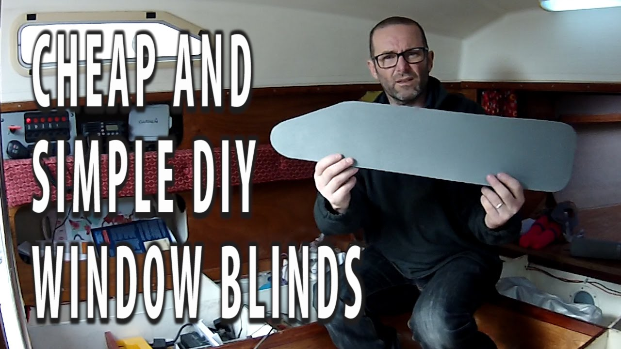 Cheap and simple diy window blinds curtains for our yacht youtube solutioingenieria Gallery