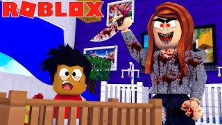 ROBLOX ESCAPE THE EVIL DAYCARE OBBY - BABY DONUT TRIES TO ESCAPE THE EVIL DAYCARE