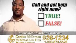 Baton Rouge Car Crash & Trucking Accident Lawyer Gordon McKernan - I Have Questions