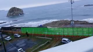 2016年11月22日 福島県沖地震 M7.4 津波 in 北茨城市二ツ島 (11.22 Tsunami in Kitaibaraki, Japan)