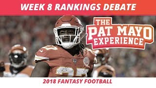 2018 Fantasy Football — Week 8 Rankings, Starts, Sits, Sleepers and Busts