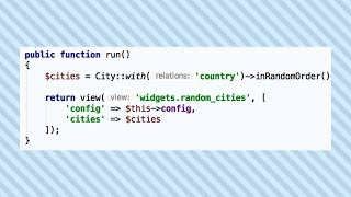 Laravel Widgets Package with Auto-Reload Data