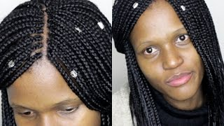 how to do box braids simple feathers