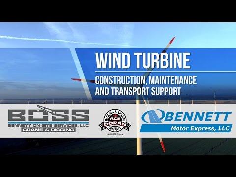 Bennett Shares Highlights from Wind Energy Business