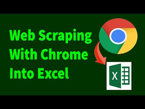 Web Scraping With Excel And Chrome Extensions | Data Scraping And Mining From Websites
