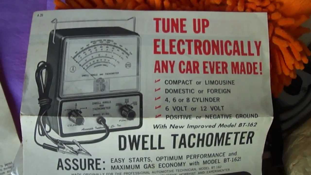 Dwell Angle And Tachometer By Accurate Instrument Company Circa Tune Sun Tach Wiring Diagram 1967 Youtube