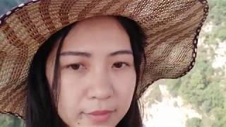 越南新娘阮氏玲拍的中越幸福家庭一家人爬华山视频