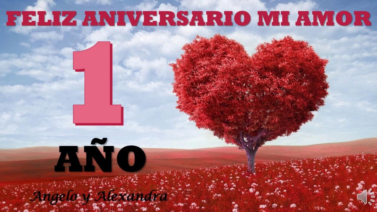 Feliz Aniversario Amor Frases: Feliz Aniversario Mi Amor 1 Año