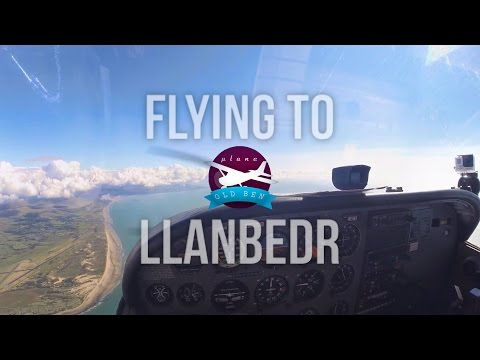 Flying to Llanbedr Airfield - EGOD - With Audio!   PlaneOldBen